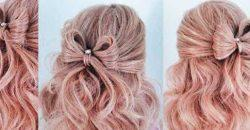 Четыре простых способа сделать бантик из волос пошаговая инструкция